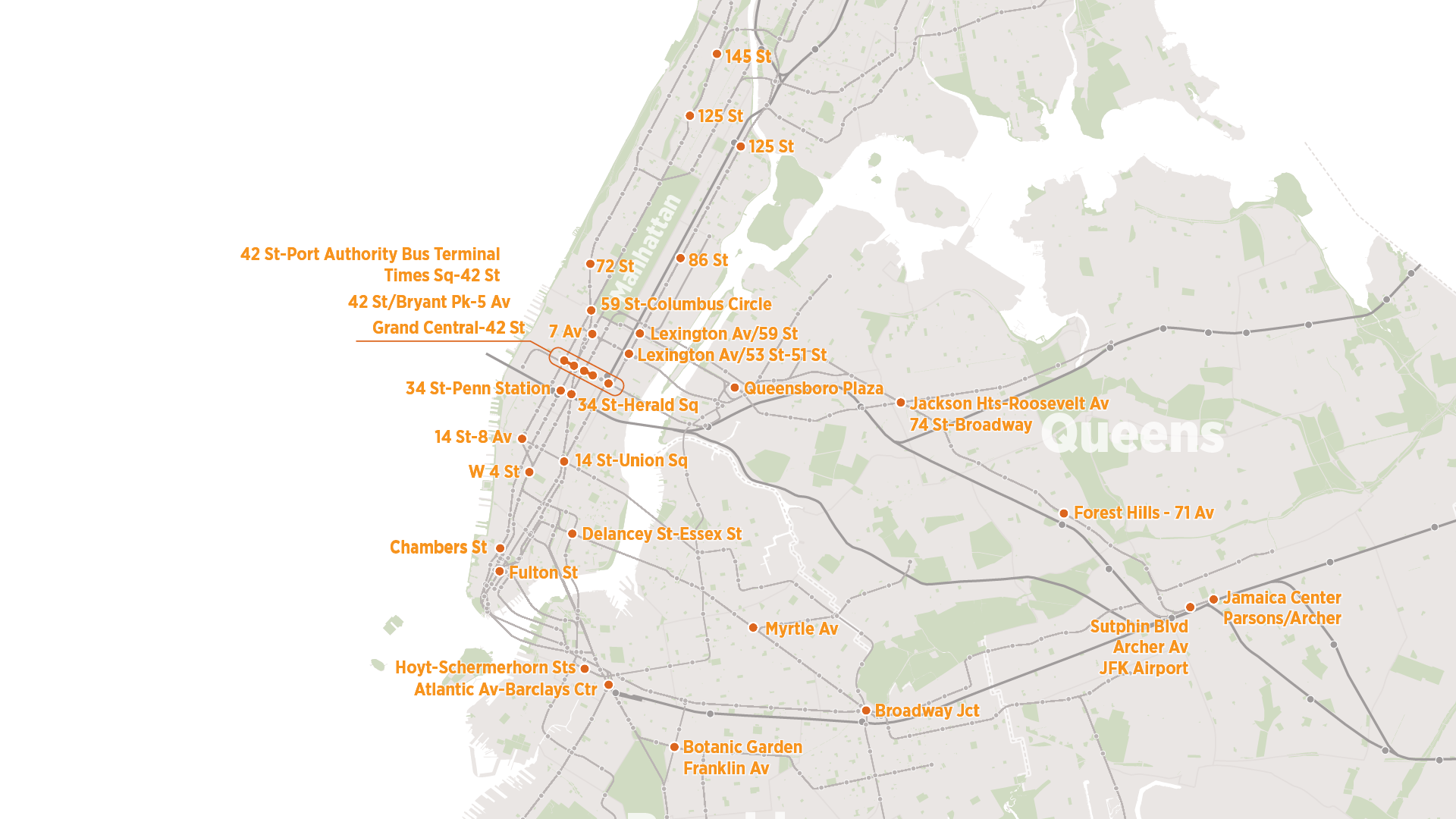 Subway Map From 14th To Chambers.Modernize And Refurbish New York City S Subway Stations The Fourth